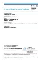 DNV Certificate B-(S-V-) E-Series, X-(S-V-) E-Series
