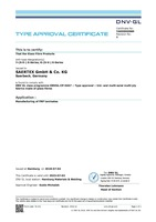 DNV Certificate Y-(S-V-) E-Series, K-(S-V-) E-Series